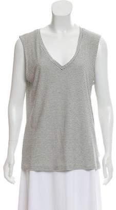 J Brand Striped Sleeveless Top