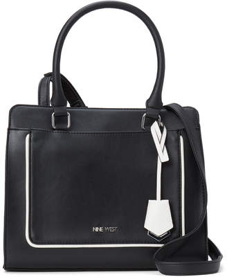 Nine West Black Avalyn Satchel