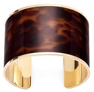 Aspinal of London Cleopatra Cuff Bracelet In Deep Shine Tortoiseshell Patent