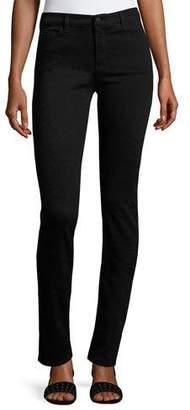 Armani Jeans High-Rise Stretch-Denim Slim Jeans, Black