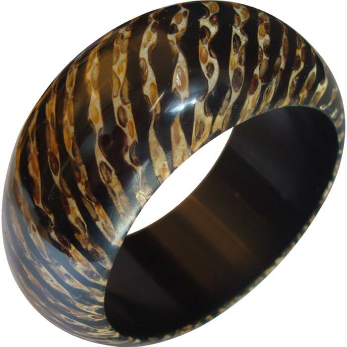 Large Animal Print Bangle by Kenneth Jay Lane