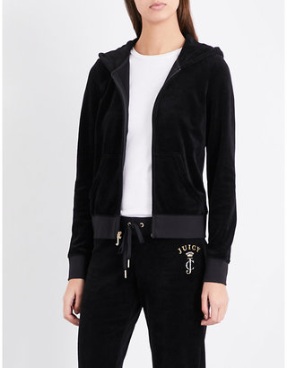 Juicy Couture Viva crown velour hoody $179 thestylecure.com