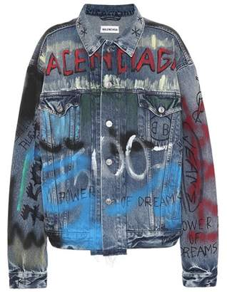 Balenciaga Handwritten Logo denim jacket