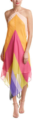 Trina Turk Hummingbird Silk Maxi Dress