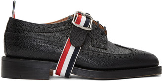 Thom Browne Black Classic Longwing Strap Brogues $1,090 thestylecure.com