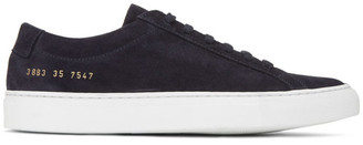 Common Projects Woman by Black Suede Original Achilles Low Sneakers