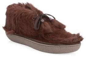 Prada Fur Chukka Booties