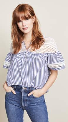 Scotch & Soda/Maison Scotch Short Sleeve Striped Blouse