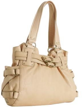 Kooba beige lambskin 'Lena' belted shoulder bag