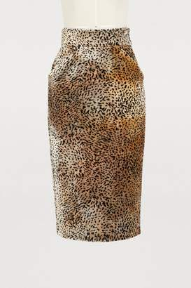 Roseanna Lauren leopard skirt