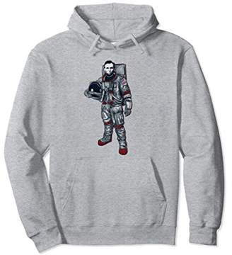 Astronaut Abe Lincoln Space Hoodie 4th of July Merica