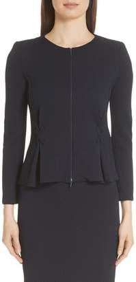 Emporio Armani Stitch Detail Stretch Jacquard Jacket