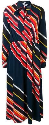 MSGM striped pussy bow dress