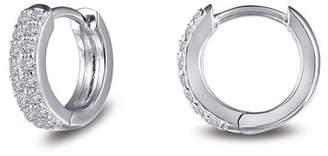 Lafonn Simulated Diamond Pave 11mm Huggie Earrings