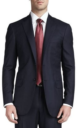 Isaia Solid Wool Suit, Navy $3,250 thestylecure.com