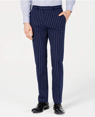 Bar III Men Slim-Fit Seersucker Blue Pinstripe Suit Pants