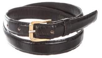 Saint Laurent Leather Thin Belt