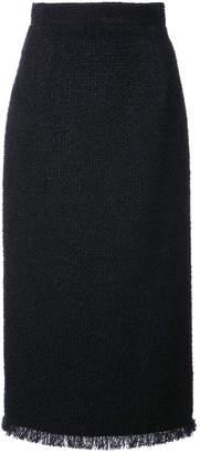 Oscar de la Renta boucle tweed pencil skirt