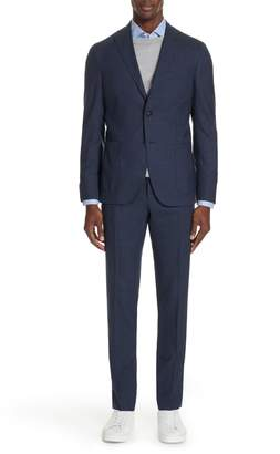 Boglioli Trim Fit Solid Wool Suit