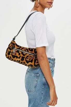 Topshop Kenya Leopard Print Shoulder Bag