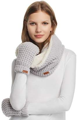 Barbour Faux Fur-Lined Snood & Mitten Set