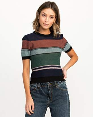 RVCA Junior's BRIGHTSIDESHORT Sleeve Sweater