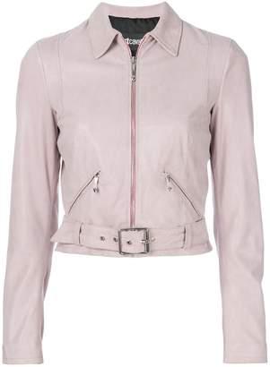 Just Cavalli leather biker jacket