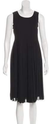 Armani Collezioni Silk Pleated Dress Black Silk Pleated Dress