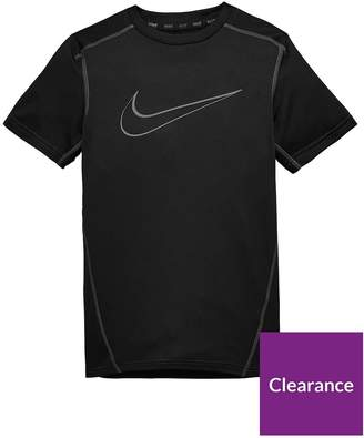 Nike Older Boys Dry Top - Black