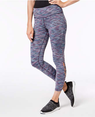 Ideology Space-Dyed Cutout Ankle Leggings