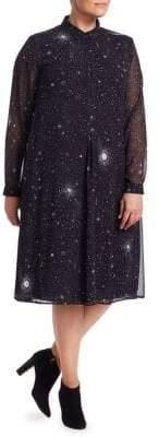 Marina Rinaldi Marina Rinaldi, Plus Size Marina Sport Star Print Shirtdress