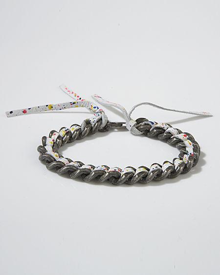 Alyssa Norton Neon Speckled Chain Bracelet