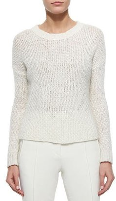 Moncler Cable Knit Sweater, Cream $715 thestylecure.com
