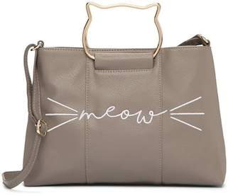T-Shirt & Jeans Meow Cat Ring Satchel