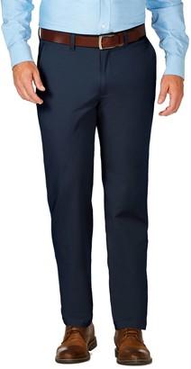 Haggar Mens J.M. Luxury Comfort Premium Flex-Waist Slim-Fit 4-Way Stretch Flat-Front Casual Pants