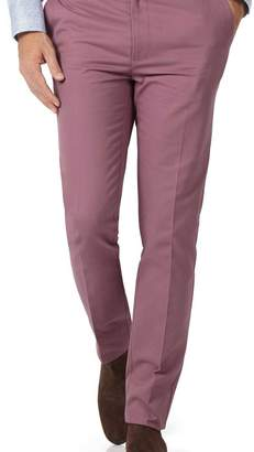 Charles Tyrwhitt Light pink slim fit flat front non-iron chinos