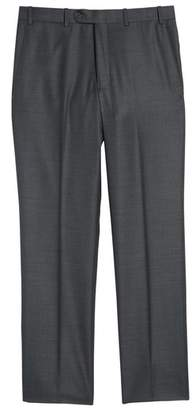 John W. Nordstrom R) Torino Flat Front Solid Wool Trousers