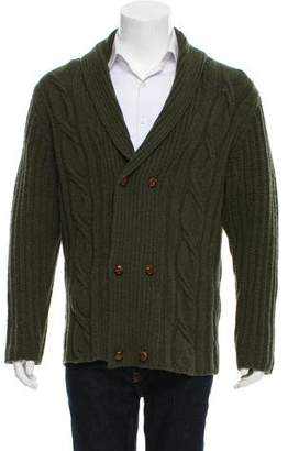 Paul Smith Woven Button-Up Cardigan