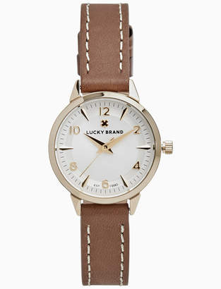 Lucky Brand TORREY MINI BROWN LEATHER WATCH, 28MM