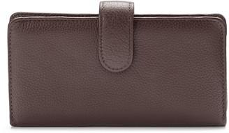 Hudson Buxton Pik-Me-Up Leather Checkbook Clutch Wallet