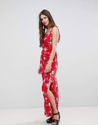 AX Paris Ditsy Column Dress With Split