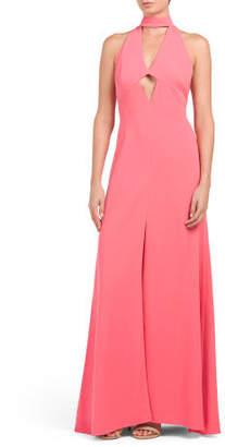 V-neck Halter Gown