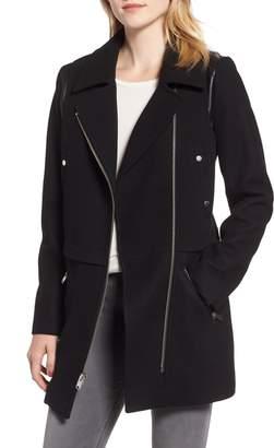 Andrew Marc Melton Asymmetrical Zip Coat