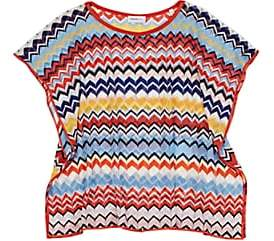 Missoni Kids' Zigzag Knit Cover-Up - Blue