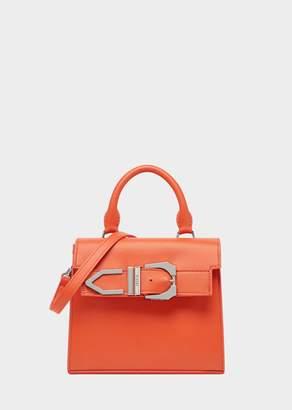 Versace Top Handle Iconic Buckle Bag