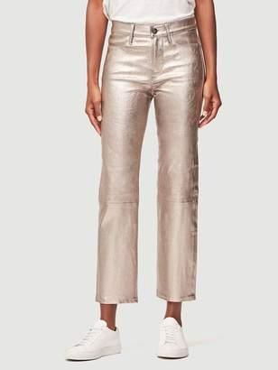 Frame Metallic Leather Straight Pant