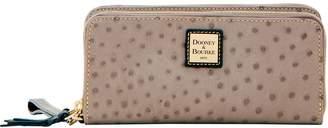 Dooney & Bourke Ostrich Double Zip Wallet