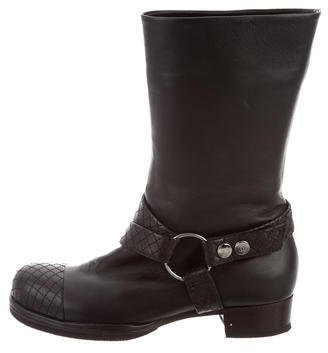 Chanel Leather Moto Ankle Boots