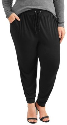 Terra & Sky Women's Plus Size Super Soft Brushed Jogger