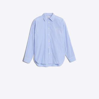 Balenciaga Woven striped oversize boyfriend shirt
